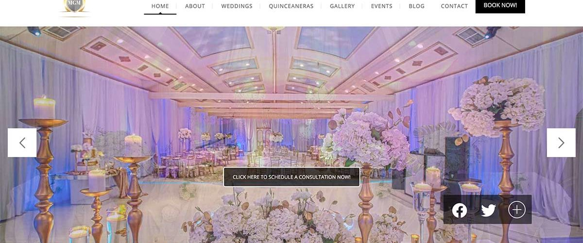 Banquet Hall Website